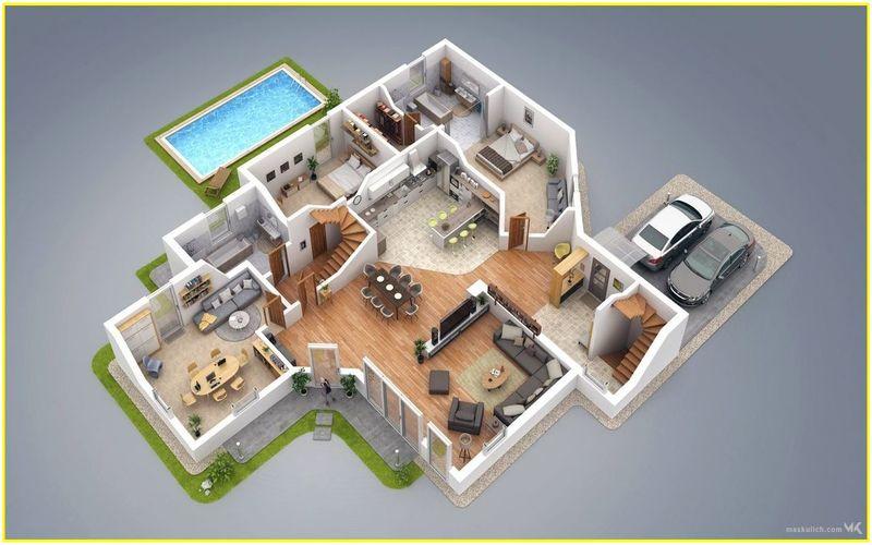 architecture des bâtiments commerciaux 3d