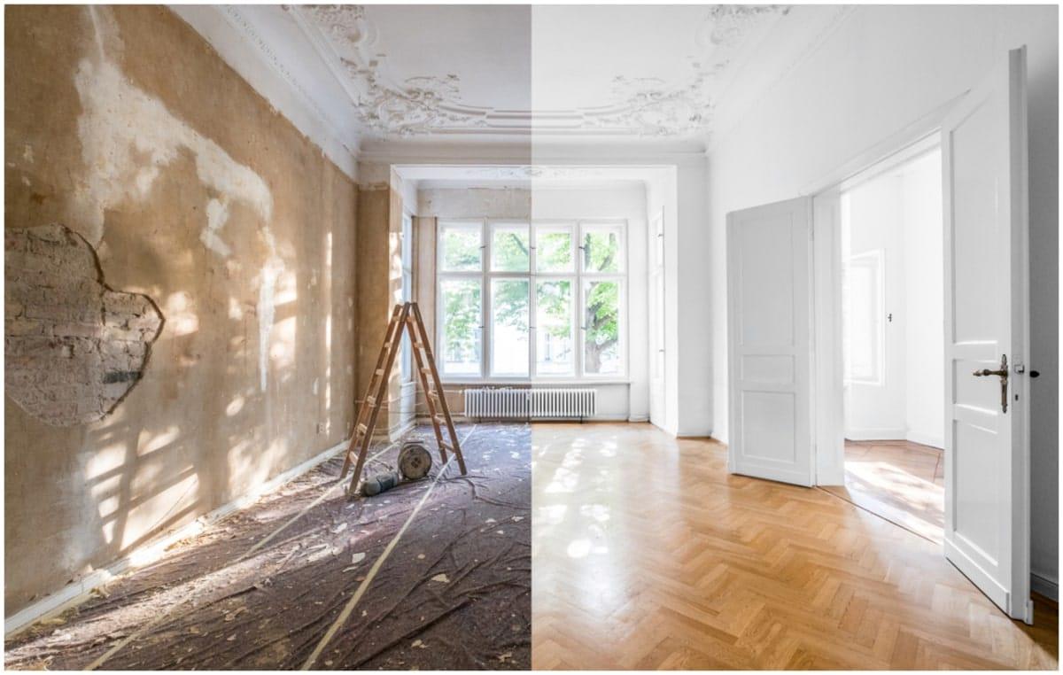 processus de rénovation d'une maison ancienne